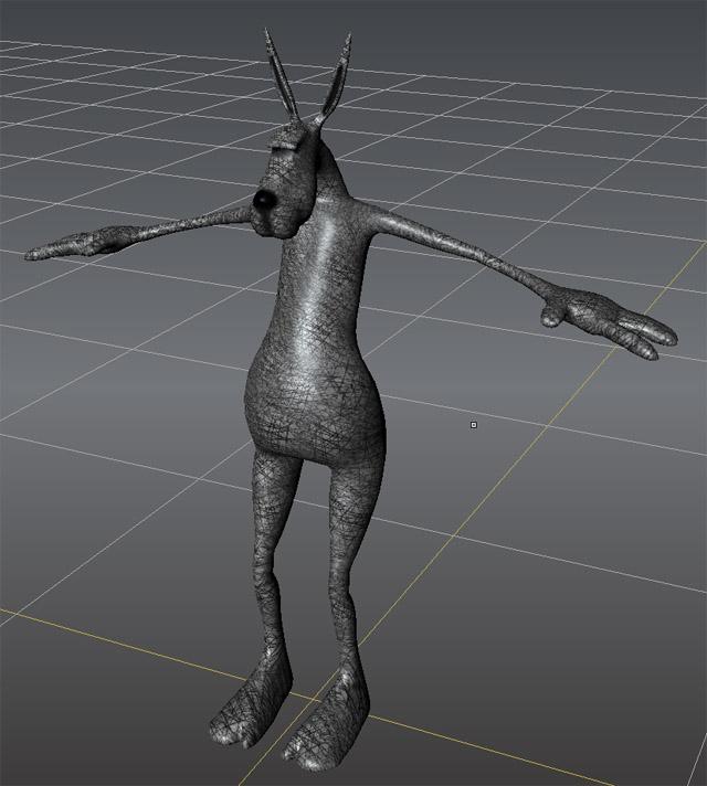 Hare texture first pass in Mudbox | Recursiveworlds